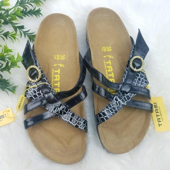 cc1d603cff5 BIRKENSTOCK Tatami Black Patent Sandals NWT